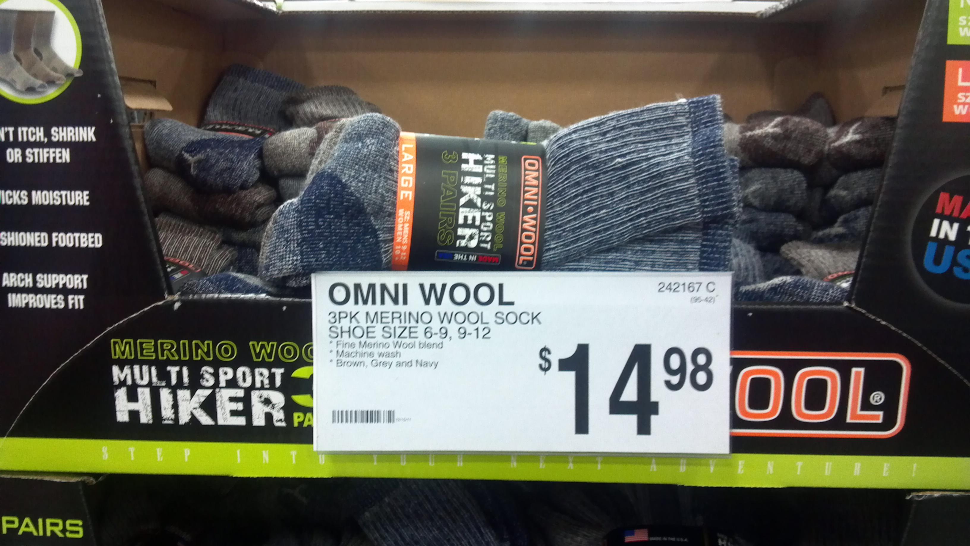 Merino Wool Socks Review, OMNI WOOL, SAMS Club