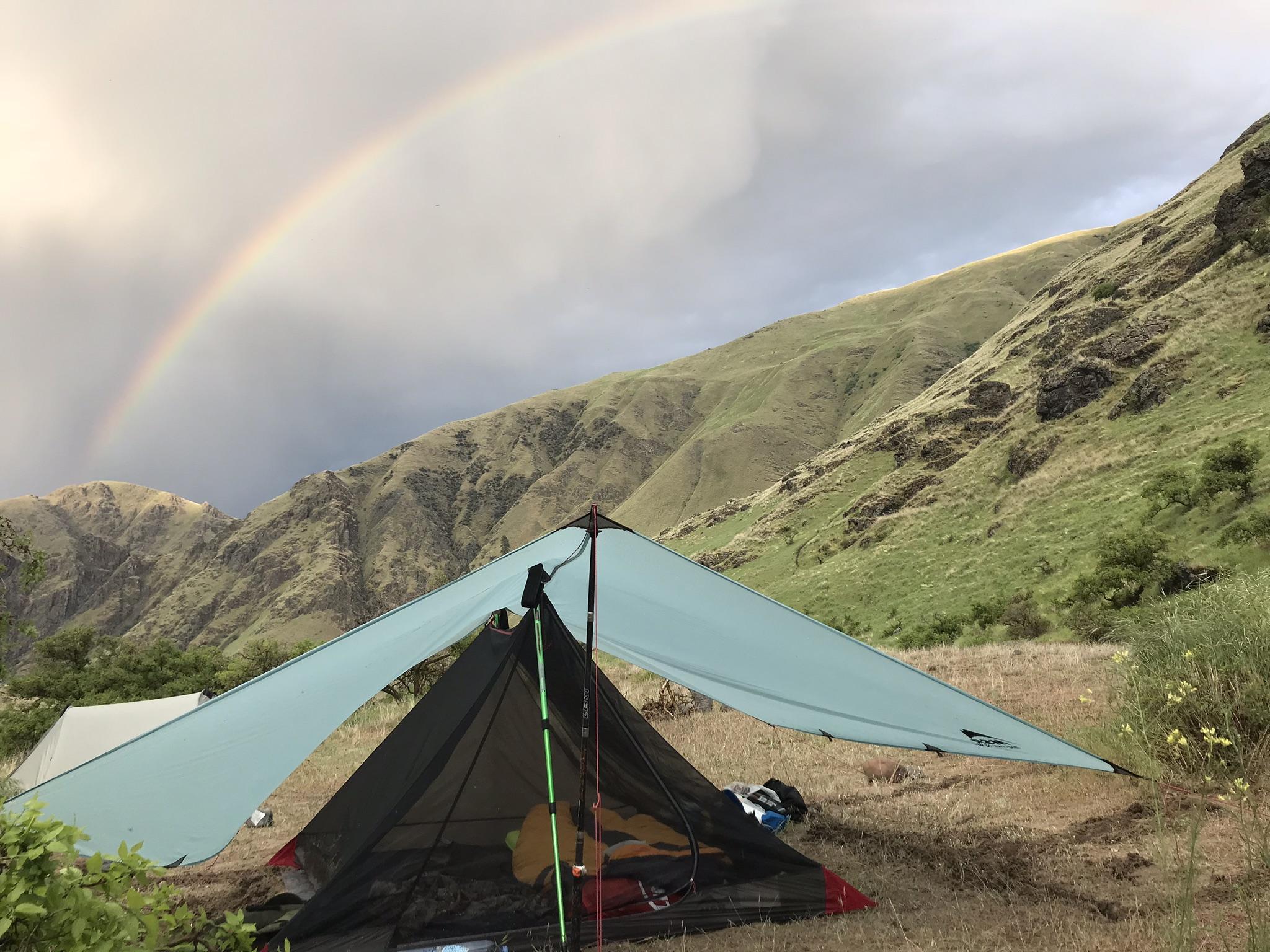 MSR Thru-Hiker Mesh House 3 Trekking Pole Shelter and Thru-Hiker 100 Wing Shelter