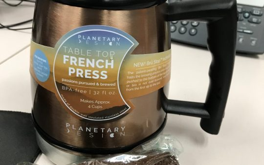 Table Top French Press with Brü-Stop by Planetary Design