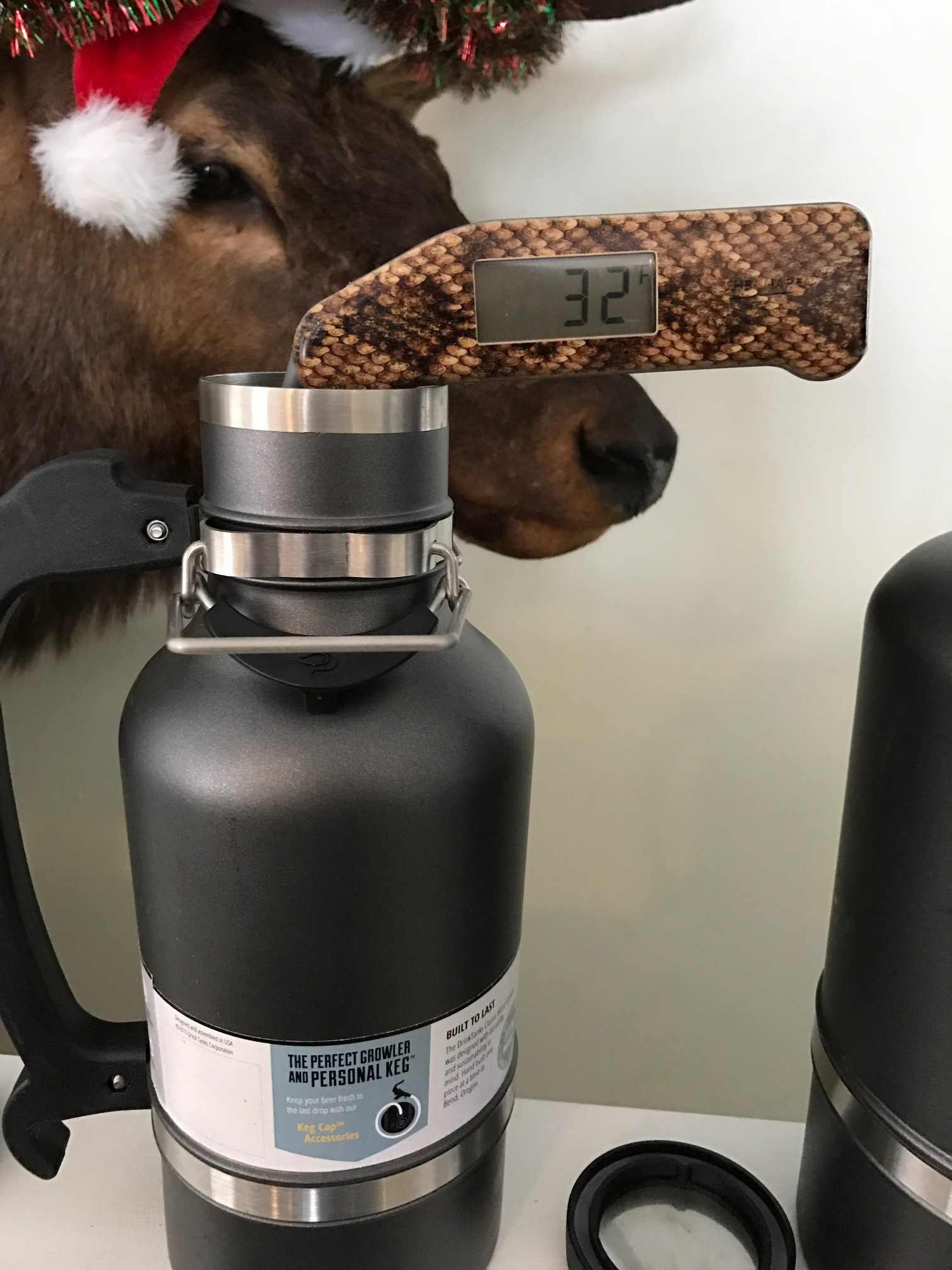 DrinkTanks® 128 oz and 64 oz Insulated Growlers With Keg Cap Accessory Kit